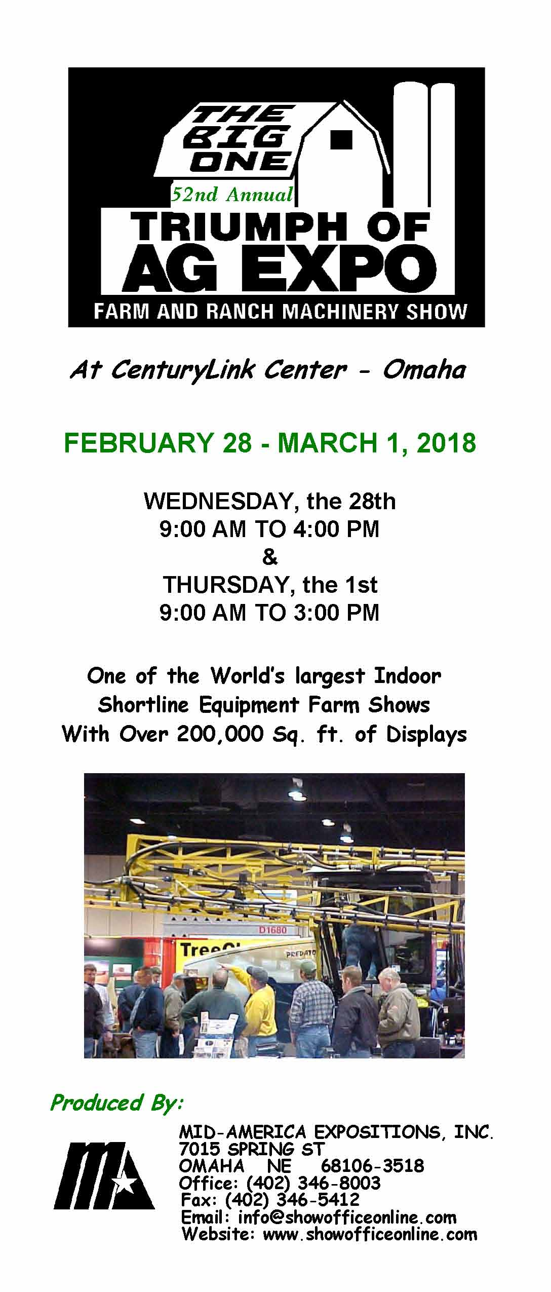 Exhibitor information | Triumph of Ag Expo